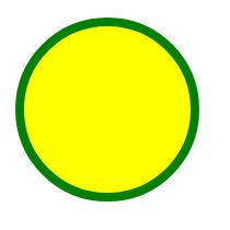 A yellow circle