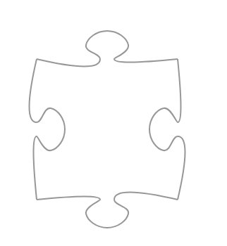 A single classic jigsaw puzzle piece.